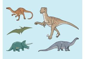 【恐龙卡通图】36套 Illustrator 恐龙图片下载,恐龙q版推荐款