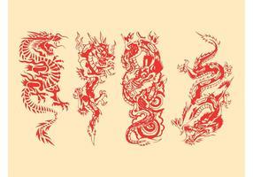 【龙图腾】49套 Illustrator 龙图案下载,龙q版图推荐款