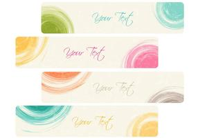 Dry Brushed Banner Vector Pack