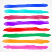 eight watercolor brush stroke collection