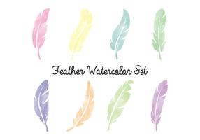 Feather Watercolor Set
