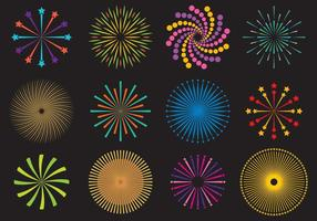 Firecrakers And Fireworks Vectors