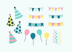 Birthday Party Elements Vector