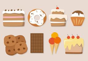 【蛋糕插画】38套 Illustrator 蛋糕符号下载,蛋糕素材推荐款