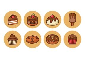 Free Chocolate Cake Outline Icons Vector