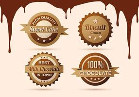 Free Collection of Chocolate Labels, Badges and Icons
