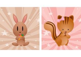 【动物图库】75套 Illustrator 可爱卡通动物AI档免费下载
