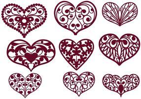 【手绘爱心图】32套 Illustrator 爱心图腾下载,爱心插图推荐款