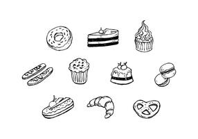 Free Dessert Hand Drawn Icon Vector