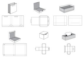 【纸袋展开图】 52套Illustrator 纸盒展开图下载 ,纸箱版型推荐