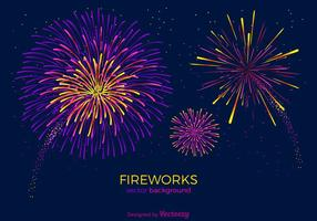 Fireworks Vector Background