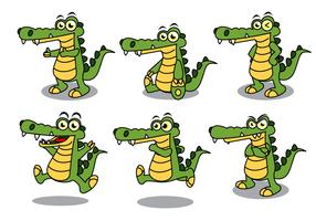 【鳄鱼卡通图】30套 Illustrator 鳄鱼图片下载,鳄鱼图案推荐款