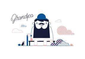 【老人卡通图】32套 Illustrator 老人q版下载,老人素材推荐款
