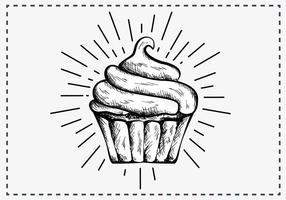 Hand Drawn Cupcake Background