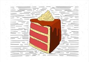 Free Hand Drawn Vector Cake Illustration