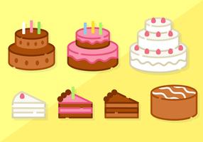 Free Minimalist Cake Vector