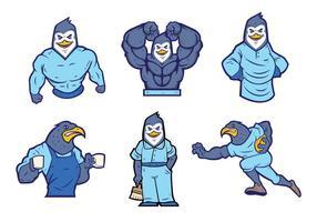 【企鹅卡通图】35套 Illustrator 企鹅图片下载,企鹅图案推荐款