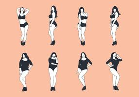Free Plus Size Woman Vector