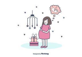 【怀孕卡通图】34套 Illustrator 孕妇图案下载,孕妇q版推荐款