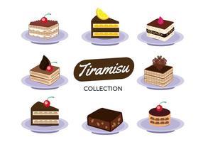 Free Tiramisu Cake Collection Vector