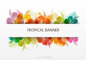 Tropical Vector Banner