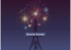 Free Vector Bonne Ann茅e Fireworks