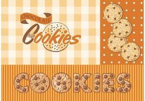 Vector Chocolate Chip Cookies