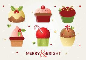 Vector Christmas Cakes
