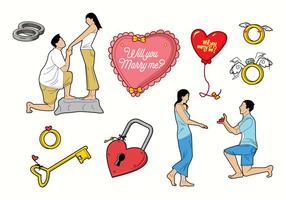【结婚素材】32套 Illustrator 结婚图案下载,结婚卡通图案推荐款