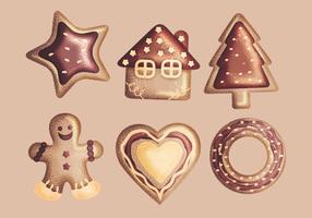 Vector Ginger Bread Cookies