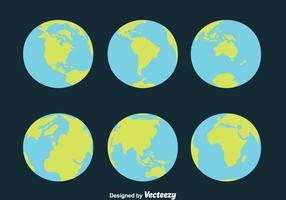 Globe Earth Vectors
