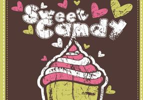 Grungy Sweet Candy Vector Wallpaper Pack