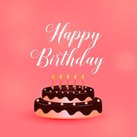 happy birthday celebration cake with candles