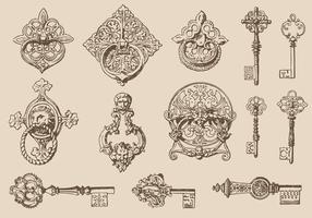 【钥匙图案】35套 Illustrator 钥匙符号下载,钥匙卡通图推荐款