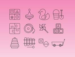 【玩具图案】34套 Illustrator 玩具素材下载,玩具logo推荐款