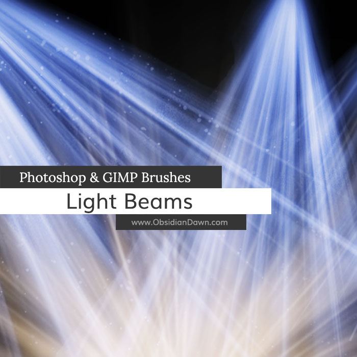 【光线笔刷】26种专业级Photoshop光线笔刷 / PS光源制作 / 光束制作