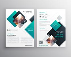 modern blue brochure cover design annual report flyer template
