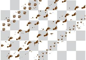 【脚印图案】35套 Illustrator 脚印符号下载,脚印素材推荐款