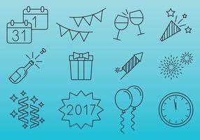 New Year Celebration Icons