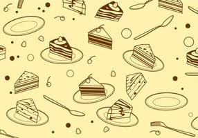 Outline Triangle Tiramisu Pattern Free Vector