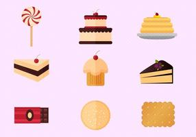 Pancake And Cakes Free Vector Set
