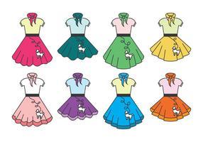【圆裙版型】36种 illustrator 圆裙版型下载,洋装版型推荐款