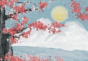 【樱花素材】70套illustrator 樱花背景图案素材下载,樱花花瓣推荐款