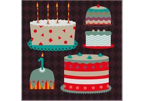 Set of Decorative Cake Vectors