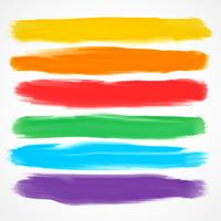 set of six different watercolor brushes