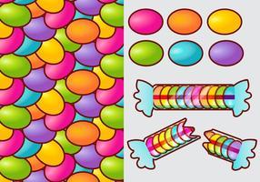 Smarties Candy Gradient Vector Elements
