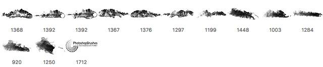 【烟雾特效】12个PHOTOSHOP烟雾素材 / PS烟笔刷 / 烟雾制作