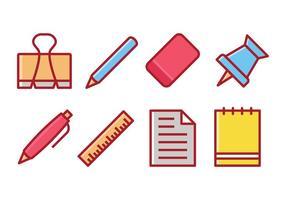 【文具素材】38套 Illustrator 文具图片下载,文具插图推荐款