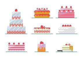 Strawberry Cake Vectors