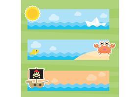 【海素材】62套 Illustrator 海插画图下载,海背景图推荐款